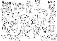 большие коты Стоковое Изображение RF