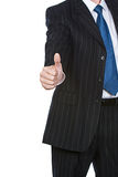 большие пальцы руки бизнесмена вверх Стоковое Изображение