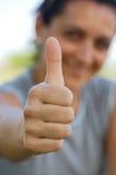 большие пальцы руки вверх Стоковое Фото