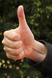 большие пальцы руки вверх стоковые изображения rf