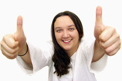 большие пальцы руки вверх стоковая фотография rf
