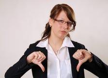 Большие пальцы руки вниз Стоковое Изображение