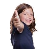 большие пальцы руки девушки вверх Стоковое Фото