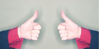 большие пальцы руки дела вверх Стоковое Изображение