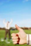 большие пальцы руки дела к вверх Стоковые Изображения RF