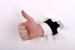 большие пальцы руки дела Стоковое Фото