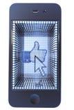 большие пальцы руки знака телефона стрелки франтовские вверх стоковая фотография