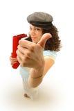 большие пальцы руки коллежа вверх Стоковая Фотография