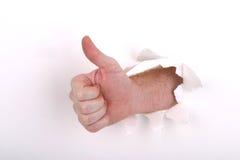 большие пальцы руки поднимают белизну Стоковые Изображения RF