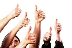 большие пальцы руки принципиальной схемы одобренные вверх Стоковые Изображения