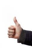 большие пальцы руки работы поздравлениям хорошие вверх Стоковые Фото