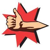 большие пальцы руки руки вверх иллюстрация вектора
