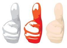 большие пальцы руки Стоковое Изображение RF