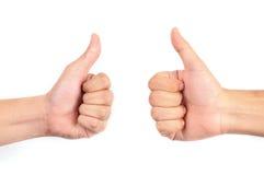 большие пальцы руки 2 вверх Стоковые Фотографии RF