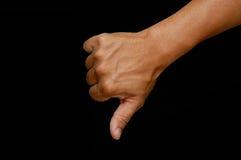 большие пальцы руки doun Стоковая Фотография RF