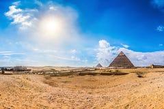 Большие пирамидки в Giza, Египете Стоковое Фото