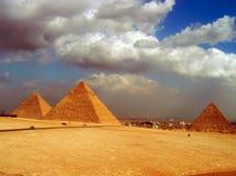 Большие пирамиды Египта стоковое фото rf