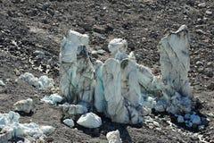 Большие плавя башни льда Стоковые Фото