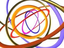большие покрашенные multi кольца Стоковые Изображения RF