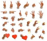 большие руки собрания Стоковая Фотография RF