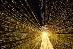 Большие света рождества звезды стоковое изображение rf