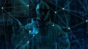 Большие средства кибер атак и машинного обучения данных, большая введенная информачи большая предпосылка цифровой технологии данн бесплатная иллюстрация