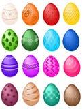 большие установленные пасхальные яйца Стоковое Изображение