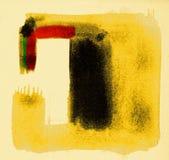 Большие ходы щетки на бумаге хлопка Стоковые Фото