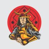 Больший самурай иллюстрация штока
