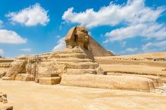 Больший сфинкс Гизы в древнем египете стоковое фото rf