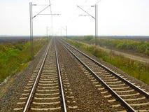 Большинств красивый вид от конца поезда стоковая фотография