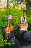 2 больших клапана воды outdoors Стоковые Изображения
