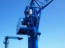 2 больших крана причала в cruz Тенерифе puerto Стоковые Фотографии RF
