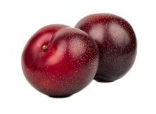 2 больших красных сливы Стоковая Фотография RF
