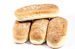 4 больших плюшки хот-дога в солнце Стоковая Фотография