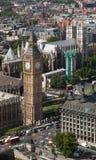 Большое Бен и Вестминстерское Аббатство Лондон Англия Стоковое Изображение RF