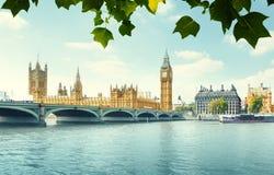 Большое Бен и парламент Великобритании, Лондон стоковые фотографии rf