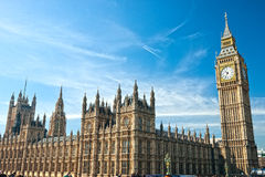 Большое Бен, Лондон, Великобритания. Стоковые Изображения RF