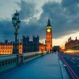 Большое Бен на ноче, Лондон Стоковое Изображение RF