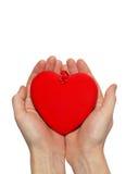 большое Валентайн сердца Стоковая Фотография