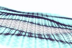 Большое визуализирование данных Предпосылка 3D Большая предпосылка информационного соединения Сеть провода техника Ai технологии  Стоковые Фото
