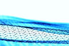 Большое визуализирование данных Предпосылка 3D Большая предпосылка информационного соединения Сеть провода техника Ai технологии  Иллюстрация вектора