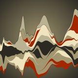 Большое визуализирование данных Streamgraph Футуристическое infographic inf Иллюстрация штока