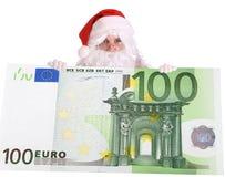 большое евро santa claus Стоковая Фотография