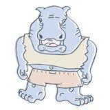 Большое животное шаржа Стоковое Изображение RF
