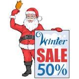 Большое знамя продажи зимы, с элементами дизайна Нового Года или рождества покупка рождества Праздник ` s Нового Года Плакат прод стоковое изображение rf