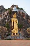 Большое изображение Будды на скале Стоковые Фото