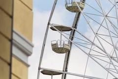большое колесо и кабины Стоковая Фотография