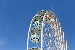большое колесо и кабины Стоковое Изображение