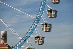 Большое колесо на Oktoberfest, Мюнхен. Конец вверх. Стоковое Изображение